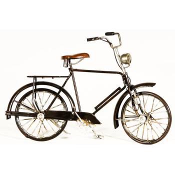 Vintage Διακοσμητικό μεταλλική μινιατούρα - Μαύρο Ποδήλατο 26.0 cm