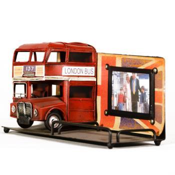 Vintage Διακοσμητικό Φωτογραφοθήκη Μολυβοθήκη Λεωφορείο Λονδίνου 13.0cm