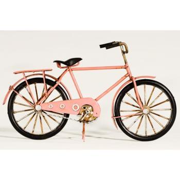 Vintage Διακοσμητικό μεταλλική μινιατούρα - Ροζ Ποδήλατο 28cm