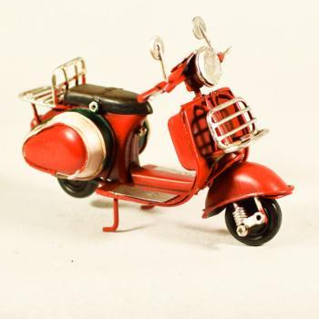 Vintage Διακοσμητικό μεταλλική μινιατούρα - Βέσπα Κόκκινη 11,5cm