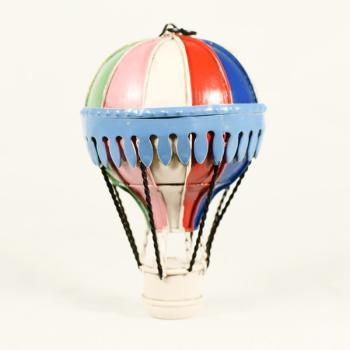 Vintage Διακοσμητικό Αερόστατο Κρεμαστό πολύχρωμο 13.0cm