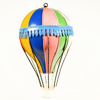 Vintage Διακοσμητικό Αερόστατο Κρεμαστό Πολύχρωμο 20.0cm