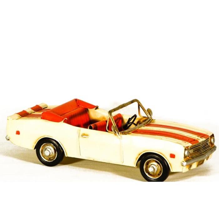 Vintage Διακοσμητικό μεταλλικό μινιατούρα - αυτοκίνητο roadster 29cm