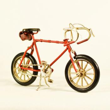 Vintage Διακοσμητικό μεταλλική μινιατούρα - Κόκκινο Ποδήλατο 16.0 cm
