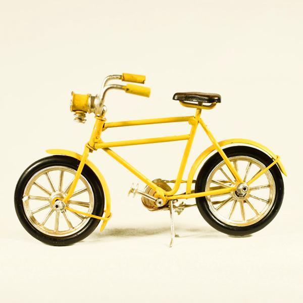 Vintage Διακοσμητικό μεταλλική μινιατούρα - Κίτρινο Ποδήλατο 16.0 cm