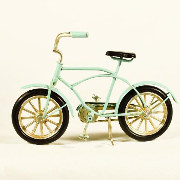 Vintage Διακοσμητικό μεταλλική μινιατούρα - Ποδήλατο Σιέλ 16.0 cm