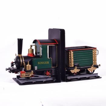 Vintage Διακοσμητικό Βιβλιοστάτης Τρένο 35.0 cm