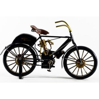 Vintage Διακοσμητικό μεταλλική μινιατούρα - Μαύρο ποδήλατο 26cm