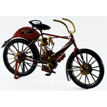Vintage Διακοσμητικό μεταλλική μινιατούρα - Μαύρο ποδήλατο κόκκινο 26cm