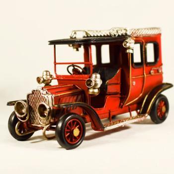 Vintage Διακοσμητικό Αυτοκίνητο Αντίκα Κόκκινο 16.5cm