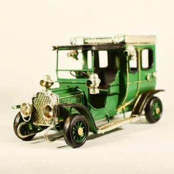 Vintage Διακοσμητικό Αυτοκίνητο Αντίκα Πράσινο 16.5cm