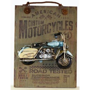 Vintage Κρεμαστό κάδρο ξύλο & μέταλλο 26.0 cm