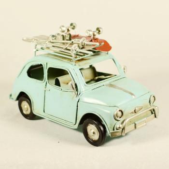 Vintage Διακοσμητικό Αυτοκίνητο Γαλάζιο 15.5cm