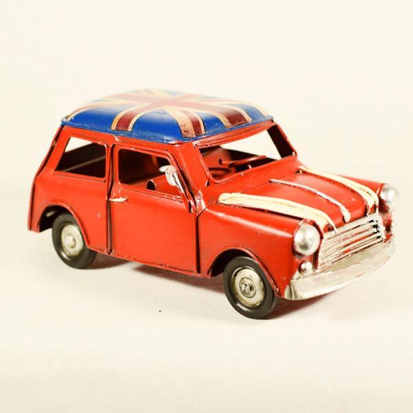 Vintage Διακοσμητικό Αυτοκίνητο Mini Κόκκινο 16.0cm