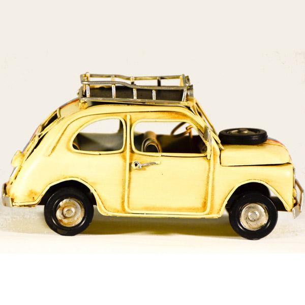 Vintage Διακοσμητικό μεταλλική μινιατούρα - FIAT 15cm