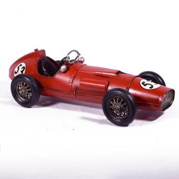 Vintage Διακοσμητικό Κόκκινο Αυτοκίνητο Κούρσα 28.0cm