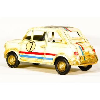 Vintage Διακοσμητικό μεταλλικό μινιατούρα - αυτοκίνητο Fiat 25cm