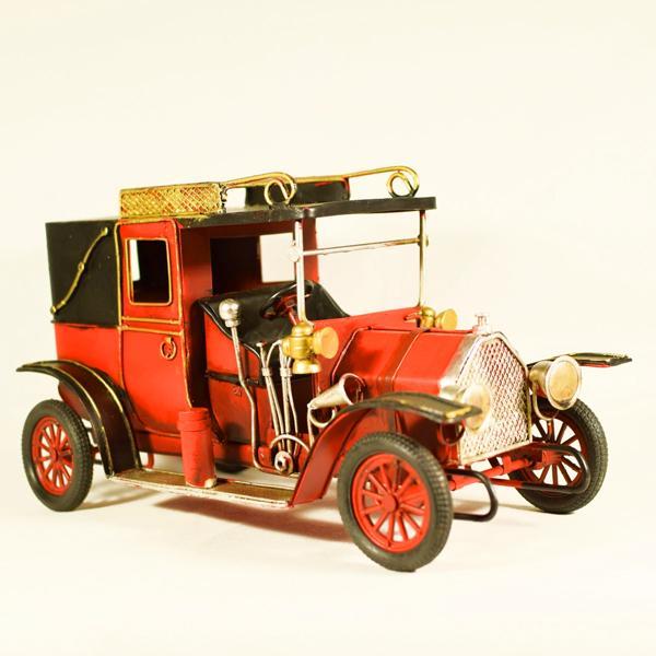 Vintage Διακοσμητικό Αυτοκίνητο Αντίκα Κόκκινο 26.5cm