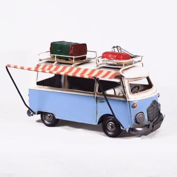 Vintage Διακοσμητικό Λεωφορείο Βαν με Τέντα 28.0cm