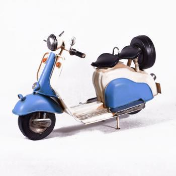 Vintage Διακοσμητικό μεταλλικό μινιατούρα - Βέσπα Γαλάζια 28.0 cm