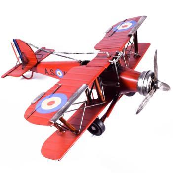 Vintage Διακοσμητικό μεταλλικό μινιατούρα - Αεροπλάνο Κόκκινο 35.0cm