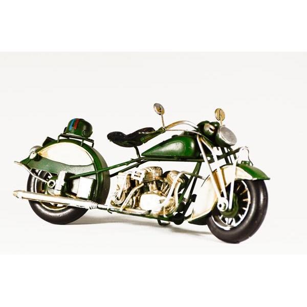 Vintage Διακοσμητικό μεταλλικό μινιατούρα - Μηχανή Πράσινη 28.0 cm