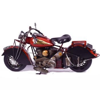 Vintage Διακοσμητικό Κόκκινη Μηχανή Indian 34.0cm