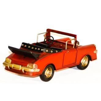 Vintage Διακοσμητικό μεταλλικό μινιατούρα - αυτοκίνητο Κάμπριο Αντικέ 25cm