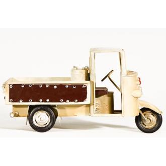 Vintage Διακοσμητικό μινιατούρα σιδερένια τρίκυκλο 25cm