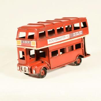 Vintage Διακοσμητικό Λεωφορείο Λονδίνου Κόκκινο 11.5cm