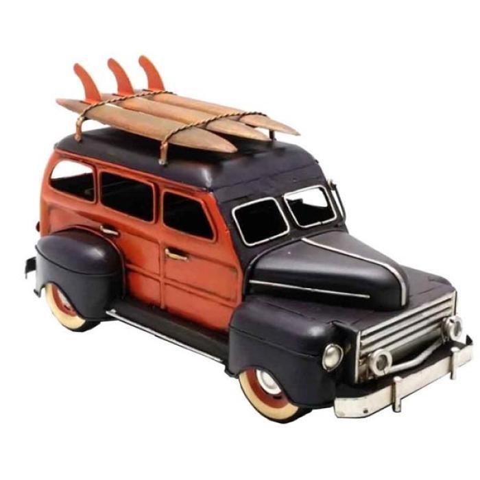 Vintage Διακοσμητικό μεταλλικό μινιατούρα - Αυτοκίνητο Αντικέ Surf 30cm