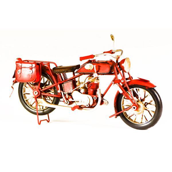 Vintage Διακοσμητικό μεταλλικό μινιατούρα - Μηχανή Κόκκινη 28.0 cm