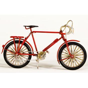 Vintage Διακοσμητικό μεταλλική μινιατούρα - Κόκκινο Αγωνιστικό Ποδήλατο 23cm