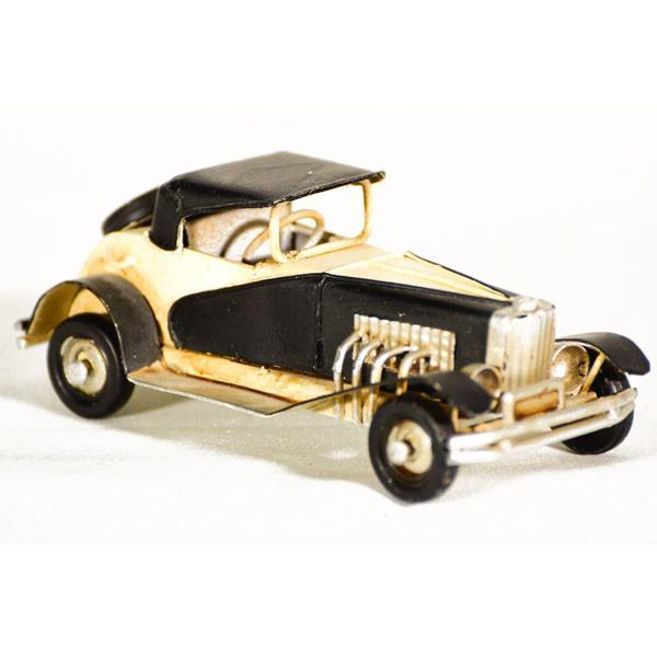 Vintage Διακοσμητικό μεταλλική μινιατούρα - μαύρο αυτοκίνητο αντίκα 11.0 cm