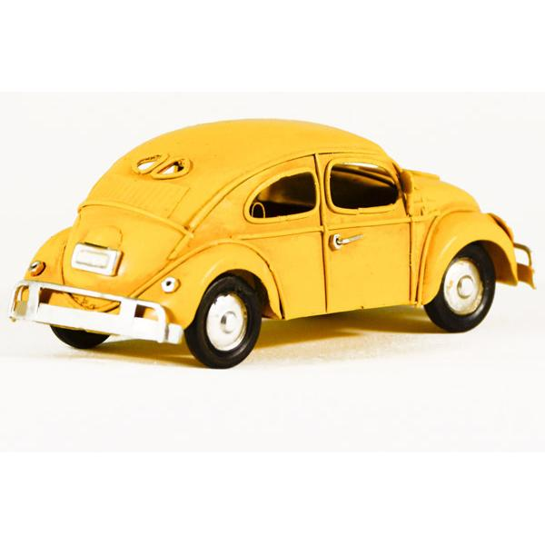 Vintage Διακοσμητικό μεταλλική μινιατούρα - Κίτρινος Σκαραβαίος 15.0 cm