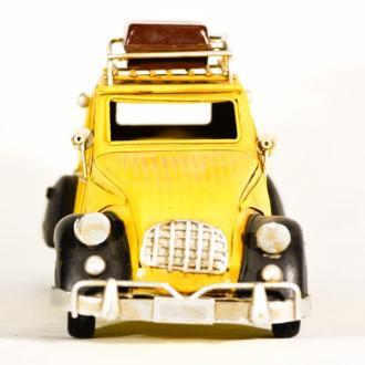 Vintage Μινιατούρα σιδερένια μεγάλων διαστάσεων Ντεσεβώ Κίτρινο 26cm