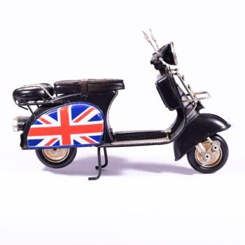 Vintage Διακοσμητικό μεταλλική μινιατούρα - Βέσπα Μαύρη England 18cm