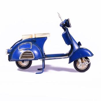Vintage Διακοσμητικό μεταλλική μινιατούρα - Βέσπα Μπλε 17.5cm