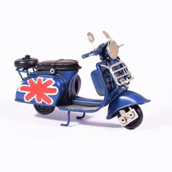 Vintage Διακοσμητικό μεταλλική μινιατούρα - Βέσπα Μπλε 11.5cm