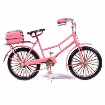 Vintage Διακοσμητικό μεταλλική μινιατούρα - Ροζ Ποδήλατο 23.0 cm