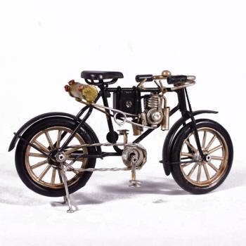 Vintage Διακοσμητικό μεταλλική μινιατούρα - Μαύρο Μοτοποδήλατο 16.0 cm