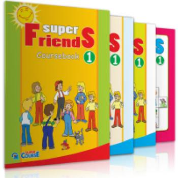 ΠΛΗΡΕΣ ΠΑΚΕΤΟ ΜΕ i-BOOK SUPER FRIENDS 1 SUPER COURSE