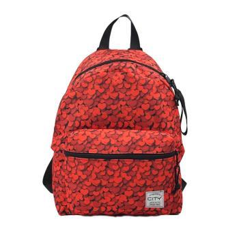 Σχολική τσάντα πλάτης CITY 35x25x15 RAINBOW SPECIAL 21916 RED HEARTS