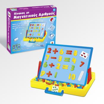 Εκπαιδευτικό παιχνίδι Πίνακας με μαγνητικούς αριθμούς και μάθε να μετράς (4+ ετών)