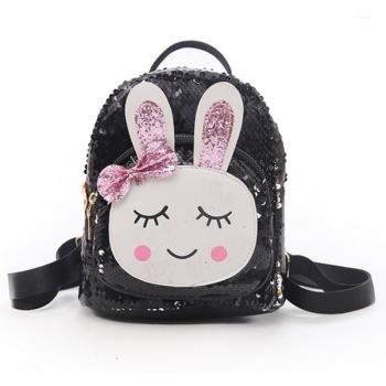 Γυναικείο Fashion τσαντάκι πλάτης magic glitter bunny black