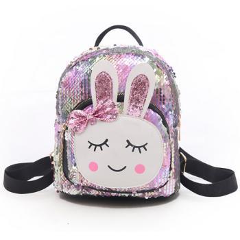 Γυναικείο Fashion τσαντάκι πλάτης magic glitter bunny light pink