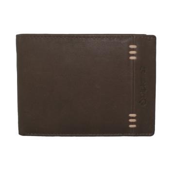 Δερμάτινο Ανδρικό πορτοφόλι DIPLOMAT MN425 12.7x9.6x1.4cm καφέ