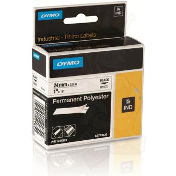 DYMO Ετικέτες RHINO 24m X 5.5Μ Permanent Black on White Polyester 1734523