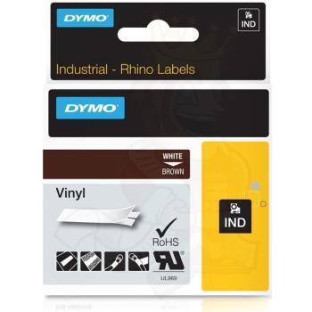DYMO Ετικέτες RHINO 12mm x 1.5Μ White on Brown Vinyl 1805412