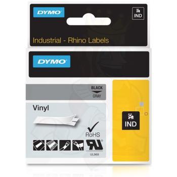 DYMO Ετικέτες RHINO 12mm x 1.5Μ Black on Grey Vinyl 1805413